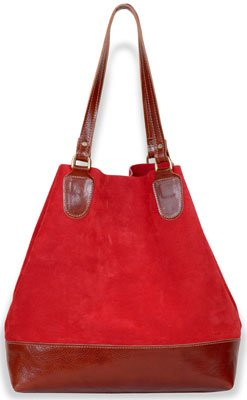 M. Andonia Suede Carryall Tote