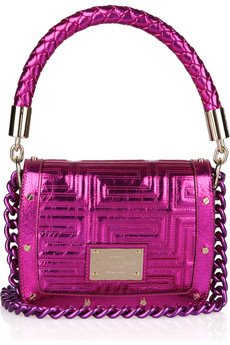 Versace Metallic Leather Shoulder Bag