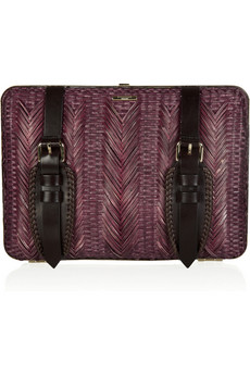 Burberry Prorsum Bamboo And Leather Clutch