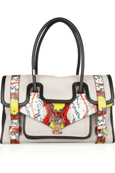 proenza schouler PS1 Keep All small canvas and leather tote