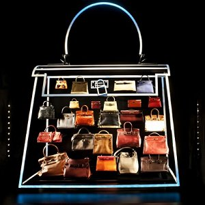 Hermes Leather Forever Display