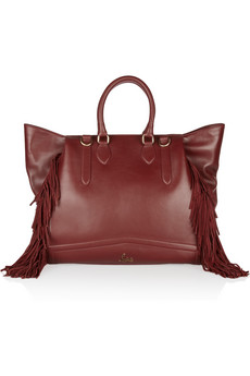 Christian Louboutin Justine Fringed Leather Shoulder Bag