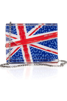 Jimmy Choo Candy Union Jack Acrylic Clutch