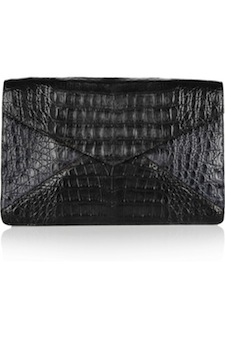 Nancy Gonzalez Two Tone Crocodile Envelope Clutch
