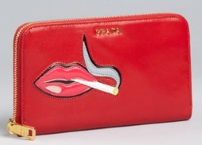 Prada Smoking Lips Wallet