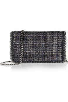 Stella McCartney Falabella Boucle Tweed Clutch