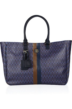 Tory Burch Roslyn Monogrammed Coated Canvas Tote