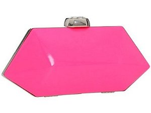 Betsey Johnson Neon Gem Clutch